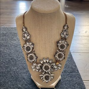 Aldo floral crystal statement necklace